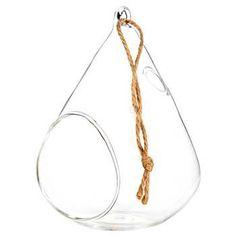Small Hanging Glass Teardrop Terrarium From Hobby Lobby