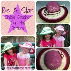 Be A Star Child's Sun Hat