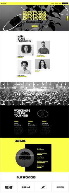 Digital Conference Landing Page | Website Template | Invite creative minds to come together