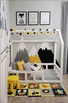 Znalezione obrazy dla zapytania żółty czarny pokój chłopca Toddler Boy Room Decor, Toddler Rooms, Boys Room Decor, Toddler Bed, Kids Bedroom Designs, Baby Room Design, Baby Bedroom, Baby Boy Rooms, Girls Bedroom