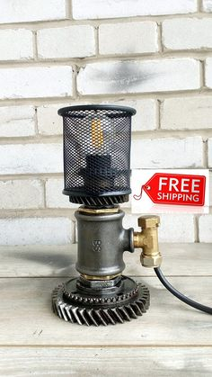 Industrial lighting Fixtures Idustrial side Table lamp vintage