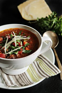 Sausage and Lentil Soup #recipe #food