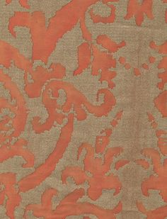 Fortuny Farnese in persimmon & gold