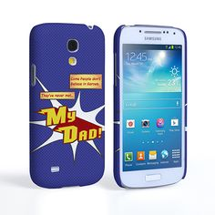 Caseflex My Dad Hero Cartoon Samsung Galaxy S4 Mini Case – Blue | Mobile Madhouse