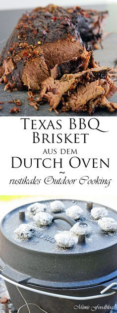 {Werbung} Texas BBQ Brisket aus dem Dutch Oven mit smoky Baked Beans ~ rustikales Outdoor Cooking - My Cooking Ideas 2019 Cooking Beets In Oven, Dutch Oven Cooking, Dutch Oven Recipes, Cooking Vegetables, Amish Recipes, Cooking Games, Bbq Brisket, Smoked Beef Brisket, Tatoo
