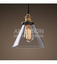 Clear Glass Funnel Filament Pendant - amonsonlighting.com.au