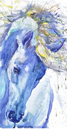 Cheval art peinture équine aquarelle imprimé cheval animal