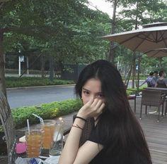 asian, black hair, and girl image