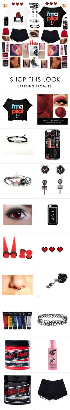 """""""Matching concert outfits for you and your best friend, I really love tøp, I'm not sorry..."""" by emo-kyleigh ❤ liked on Polyvore featuring Retrò, Bellybutton, Venom, Topshop and Manic Panic NYC"""