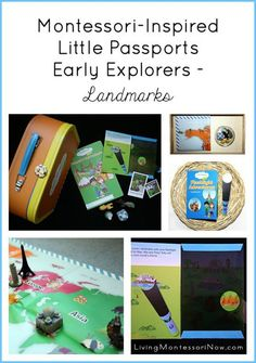 Ideas for using the Little Passports Early Explorers Landmarks package using a Montessori-inspired approach for toddlers and preschoolers