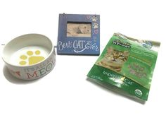 Meowtastic Cat Lovers Gift Bundle- ' All About Meow' Dish, 'Best Cat Ever' Frame and 100% Organic Catnip * Click image for more details. (This is an affiliate link and I receive a commission for the sales)