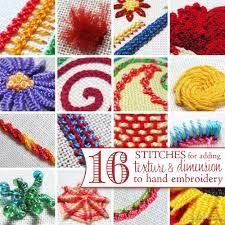 Resultado de imagen para hand embroidery stitches