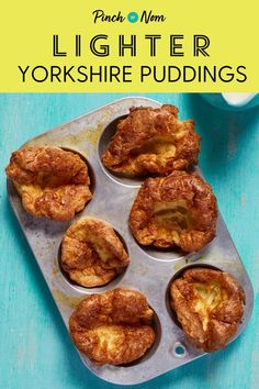 A roast dinner wouldn't be the same without these slimming-friendly Yorkshire … Low Calorie Recipes, Healthy Recipes, Healthy Meals, Diet Recipes, Healthy Food, Recipies, Yummy Food, Pinch Of Nom, Slimming World Recipes