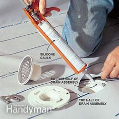 Cut a hole in the liner for the drain when you build the shower pan.
