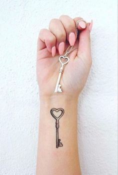 key tattoo #ink #youqueen #girly #tattoos #key @youqueen
