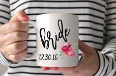 bride mug with weddi