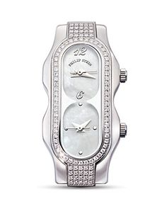 Philip Stein Mini Signature Stainless Steel Diamond Head, Mother of Pearl Dial | Bloomingdale's