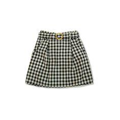 バックルとタイト感がレトロなギンガムチェックスカート ❤ liked on Polyvore featuring skirts, bottoms, saias, gonne and women