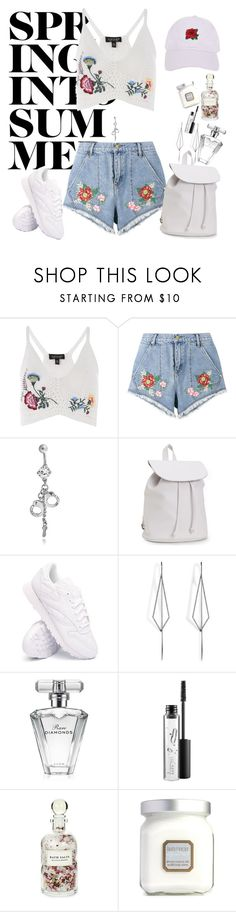 """""""spring into summer"""" by miss-fairytale on Polyvore featuring Topshop, House of Holland, Bling Jewelry, Aéropostale, Reebok, Diane Kordas, Avon, MAC Cosmetics, Mullein & Sparrow and Laura Mercier"""