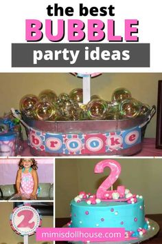 Fun party ideas for a Bubble Party. Do you have a little miss or mister who loves popping bubbles? Throwing a bubble party is a great way to celebrate their birthday by highlighting the love of all things bubble! Here are some fantastic Bubble party ideas for you to enjoy! Bubbles! They are like magic popping balls of fun! Check out these cute and easy Bubble Birthday Ideas #bubble #bubbles #party #partyideas #parties #girl #diy birthday #kids Bubble Birthday Parties, Bubble Party, Birthday Kids, Party Treats, Party Desserts, Party Favors, Girl Parties, Unicorn Party, Little Miss