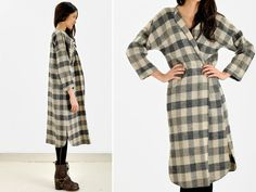In love with this Buffalo Plaid Blanket Coat from ikahn vintage, $72