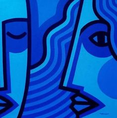 Image result for abstract paintings in blue