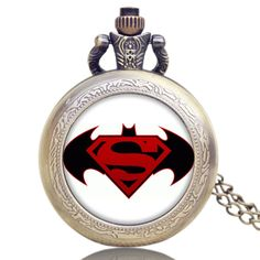 New Arrive Steampunk Antique Design Accressory Fashion Batman and Superman Hand Watch Men Kid Boy Gift 2016