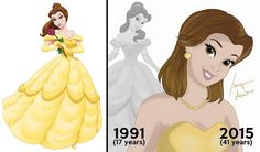 See these classic Disney princess after ageing...