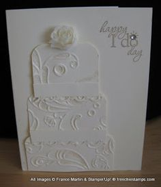 Stamp & Scrap with Frenchie: Happy I do Day Stampin'Up! Wedding card