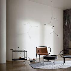 Muster und Geometrie: Franklin Chandelier weiß von Menu | online kaufen im stilwerk shop | € 490,-