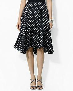 Whee, flarey polka dot skirts.