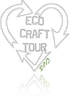 Eco Craft Tour: bigliettini chiudipacco fatti con giornali e riviste