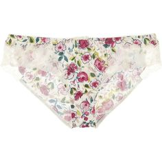 Dolce & Gabbana Floral satin briefs ($33) ❤ liked on Polyvore featuring intimates, panties, lingerie, underwear, undies, white satin panties, satin panties, floral panty, bow lingerie and bow panties