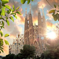 Sagrada Familia Gothic Cathedral, Antoni Gaudi, Holy Family, Barcelona Cathedral, Brave, Cruise, Barcelona Catalonia, City, Colors