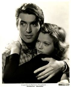 """Picture of Jimmy Stewart & Simone Simon for """"The Seventh Heaven"""" dir. Old Movie Stars, Classic Movie Stars, Classic Movies, Hollywood Stars, Classic Hollywood, Old Hollywood, Hollywood Glamour, Actors Male, Actors & Actresses"""