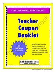 Teacher coupon booklet 2018 2019 pinterest teacher morale hard teacher coupon booklet from simplythanks on teachersnotebook 33 pages teacher fandeluxe Choice Image