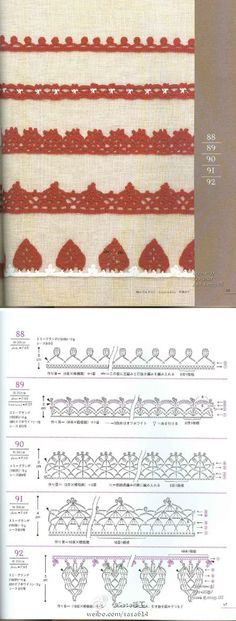 Edging crochet charts