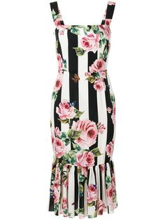 Dolce   Gabbana Peony Print Ruffle Dress available to buy at Harrods ... 3ac0519d8