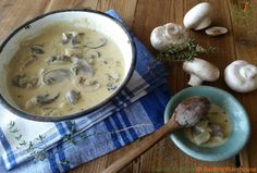 Creamy Mushroom and Thyme Sauce for Steak