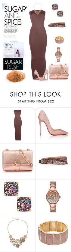 """Brown Sugar"" by scope-stilettos ❤ liked on Polyvore featuring Wolford, Christian Louboutin, Aspinal of London, Kate Spade, Diesel and Apt. 9"