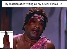 My reaction after wirting my arrear Exams