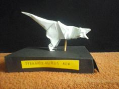 My origami t-rex    By: my :)