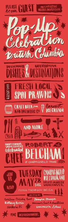 type, lettering, design, poster, flyer, leaflet, red, hand lettering, ink, typography