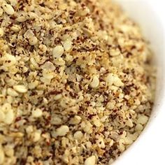 Syrian-Style Za'atar is a blend of sesame seeds, sumac, coriander, cumin, lemon zest, coarse sea salt and anise seed. It's awesome with any Mediterranean Dish, but we tried it on chicken wings with tasty results.