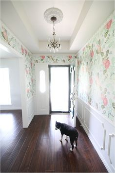 Obsessed with this entryway and floral wallpaper from www.runtoradiance.com. The wallpaper is watercolor peony from @anthropologie <3 #anthrostyle