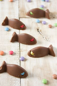 Smarties and chocolate fishes by #LittleCook
