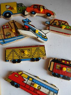 Fisher Price Vehicles Puzzle... I think my brother had this!