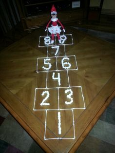 Looks like Henrietta is gearing up for a late night game of hopscotch!