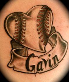 I Heart Baseball...  love this unique one  Knucklehead Tattoo, Salem Oregon