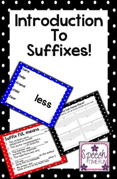 By breaking down the common suffixes, students can learn to compensate for weak vocabulary and prompt themselves!